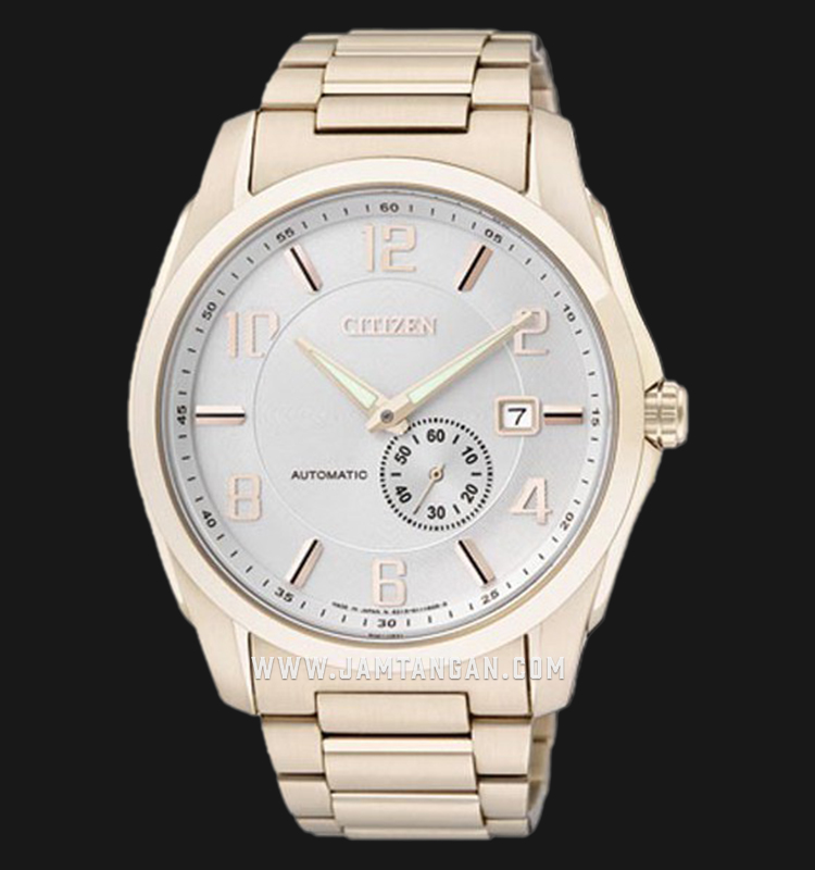 Citizen NJ0042-59B Automatic White Dial Rose Gold Stainless Steel Strap Machtwatch