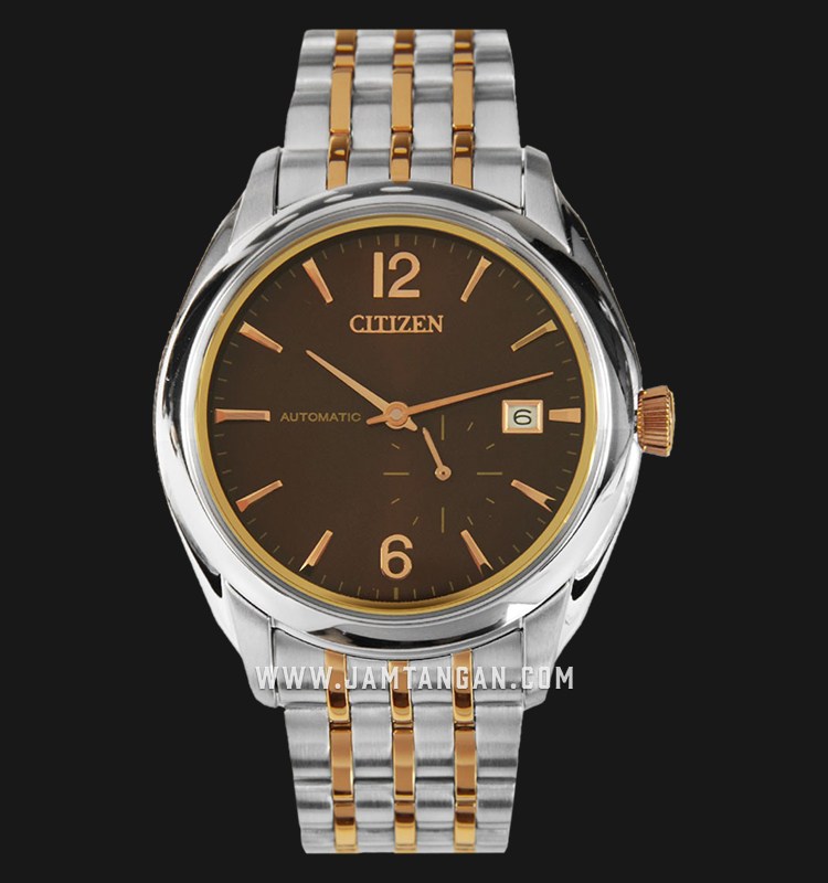 Citizen NJ0064-56W Automatic Brown Dial Dual Tone Stainless Steel Strap Machtwatch