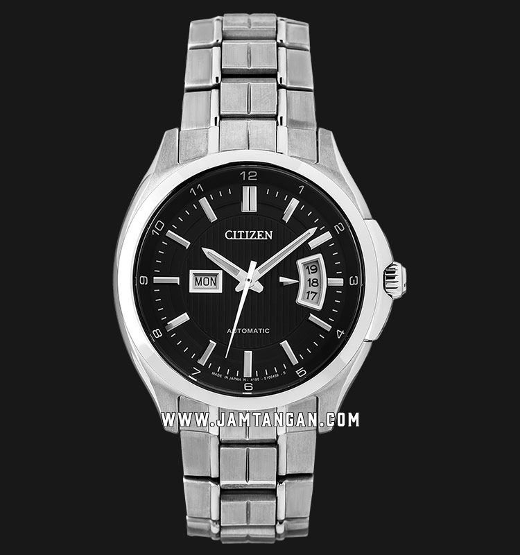 Citizen NP4030-58E Automatic Black Dial Stainless Steel Strap Machtwatch