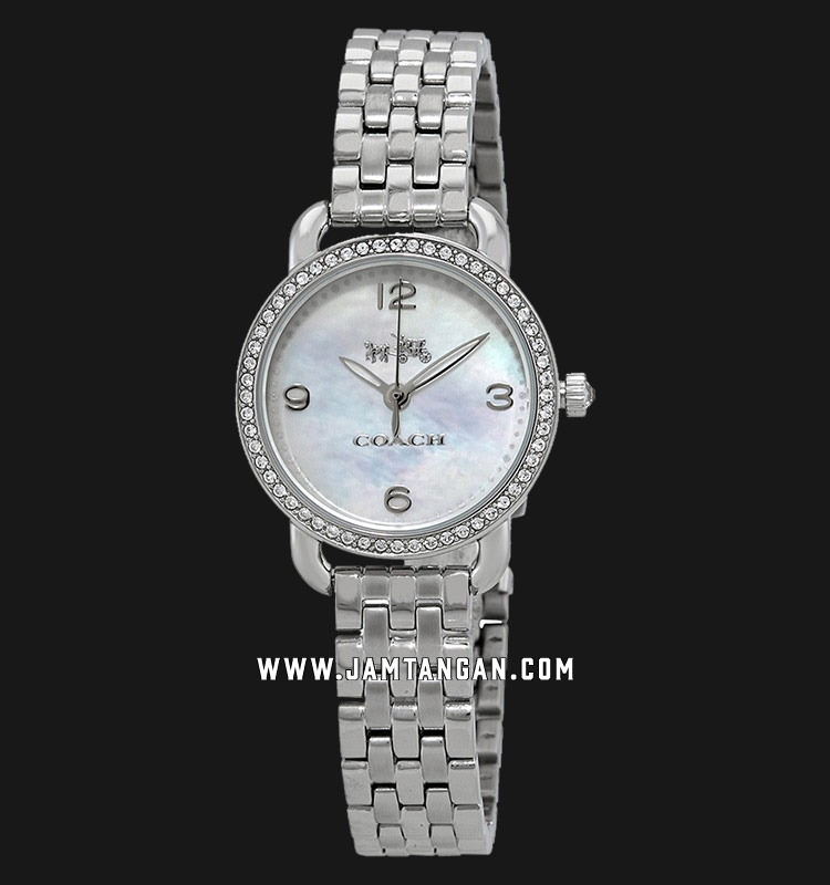 Coach 14502477 Delancey Ladies Mother of Pearl Dial Stainless Steel Strap Machtwatch