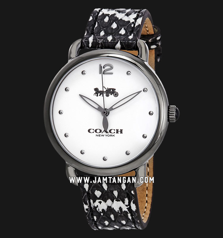 Coach 14502712 Delancey Ladies White Dial Dual Tone Leather Strap Machtwatch