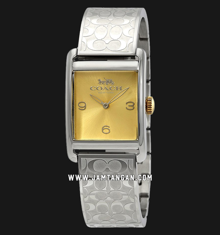 Coach 14502850 Renwick Ladies Gold Dial Stainless Steel Strap Machtwatch
