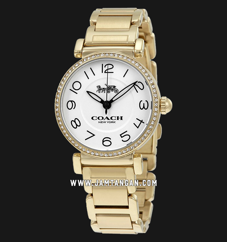 Coach 14502855 Madison Ladies White Dial Gold Stainless Steel Strap Machtwatch