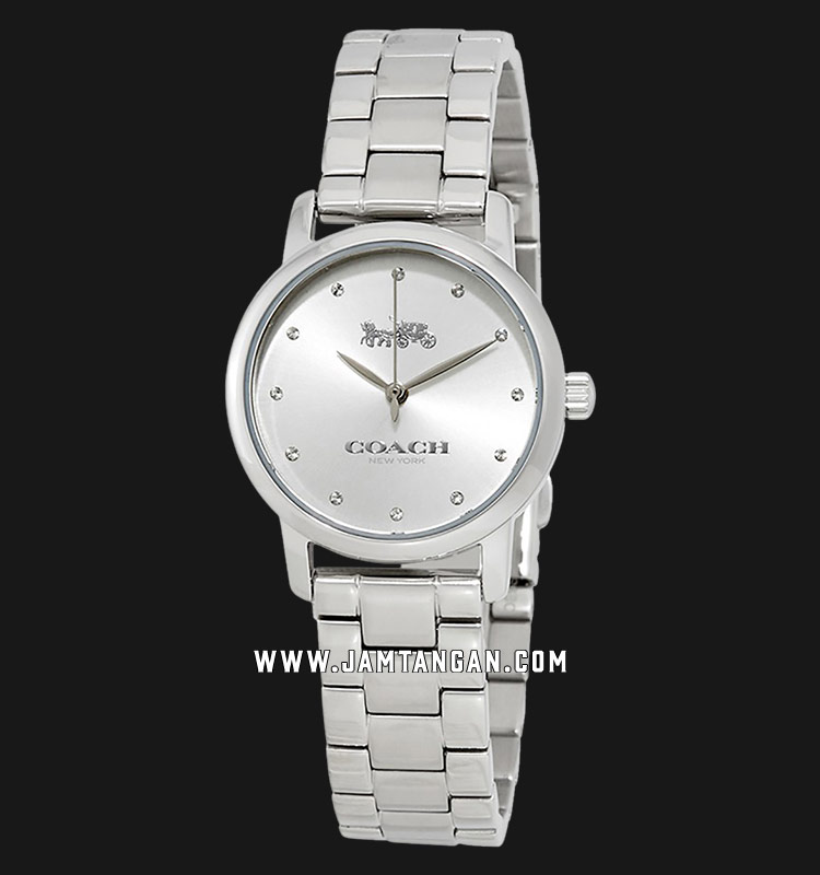 Coach 14503001 Grand Ladies Silver Dial Stainless Steel Strap Machtwatch