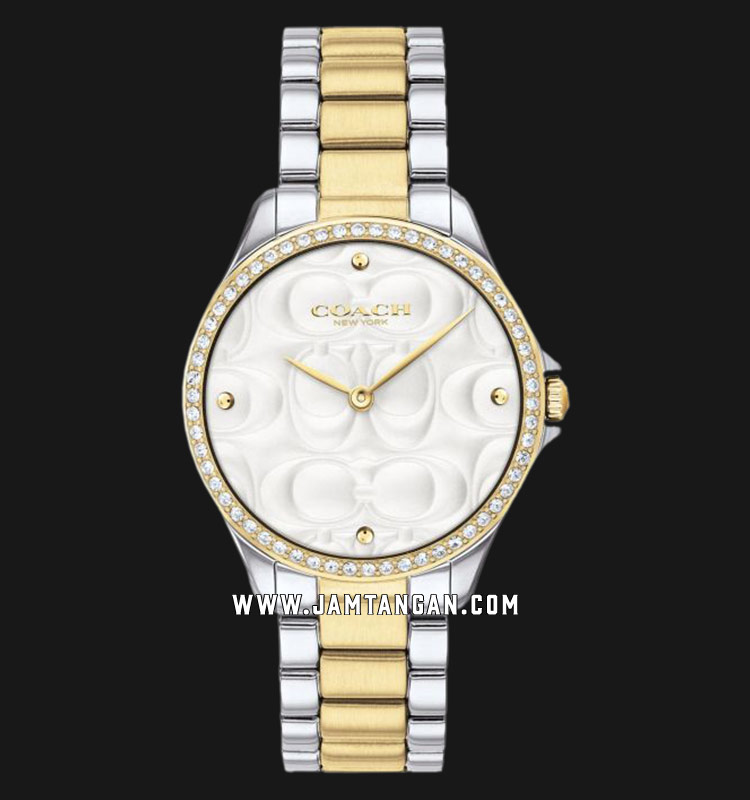 Coach 14503073 Astor Ladies Silver Dial Dual Tone Stainless Steel Strap Machtwatch