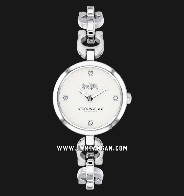 Coach 14503077 Signature Ladies Silver Dial Stainless Steel Strap Machtwatch