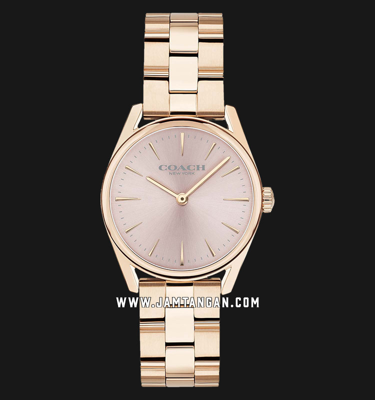 Coach 14503206 Modern Luxury Ladies Rose Gold Dial Rose Gold Stainless Steel Strap Machtwatch