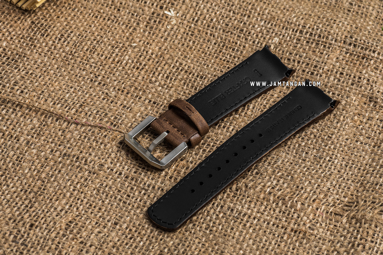 Strap Crafter Blue CB05-Leather-Brown 22mm Men Leather Strap Machtwatch