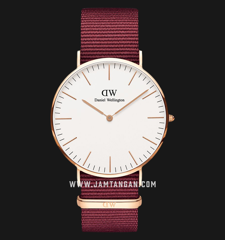 Daniel Wellington DW00100267 Classic Roselyn 40mm White Dial Red NATO Strap Machtwatch