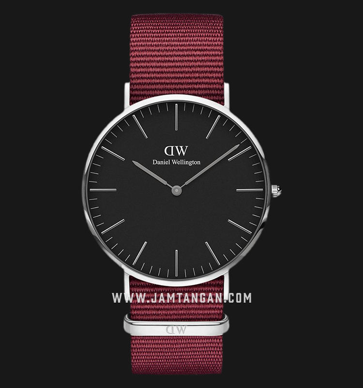 Daniel Wellington DW00100270 Classic Roselyn 40mm Black Dial Red NATO Strap Machtwatch