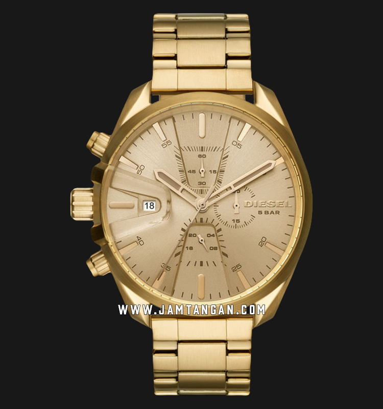 Diesel DZ4475 Analog Men Gold Dial Gold Stainless Steel Machtwatch