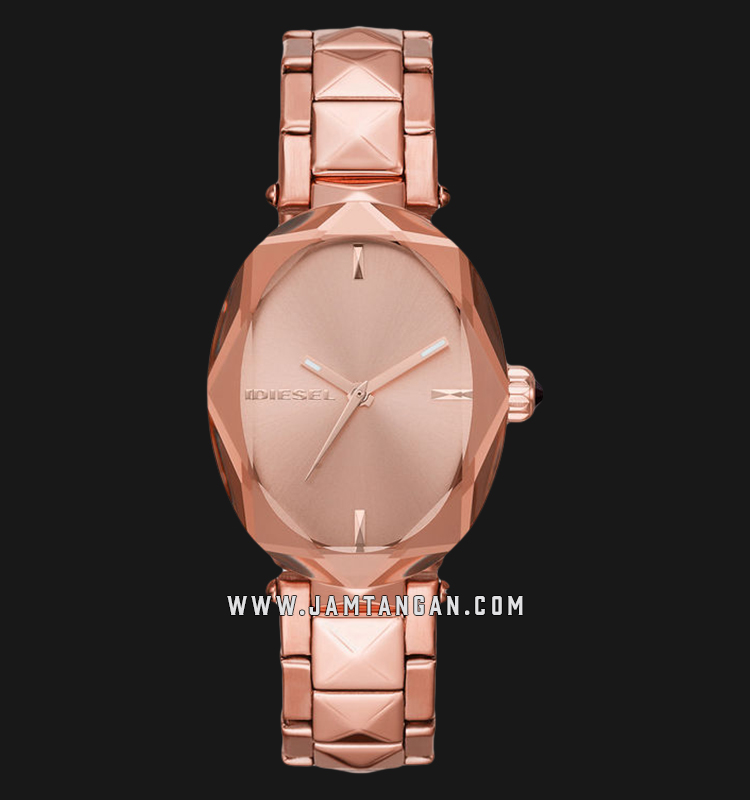 Diesel Julez DZ5580 Ladies Rose Gold Dial Rose Gold Stainless Steel Strap Machtwatch