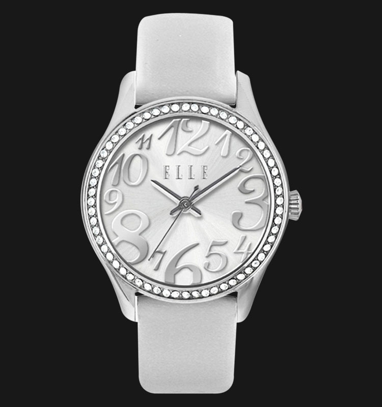 ELLE EL20312S05C Sporting Stainless Steel with Leather Strap Machtwatch