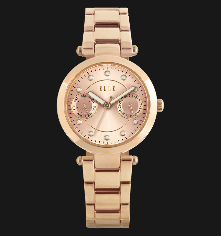 ELLE EL20317B03C Day and Date Display Rose Gold Plated Stainless Steel Bracelet Machtwatch