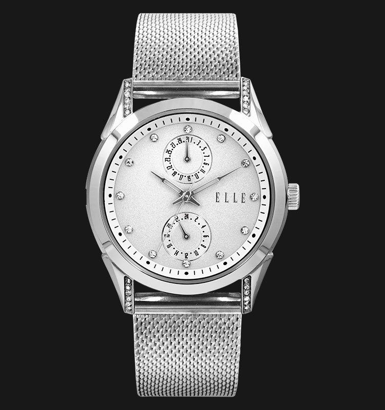 ELLE EL20318B01C Date and 24 Hours Display Stainless Steel Bracelet Machtwatch