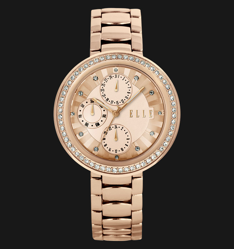 ELLE EL20319B04C Day and Date Display Rose Gold Plated Stainless Steel Bracelet Machtwatch
