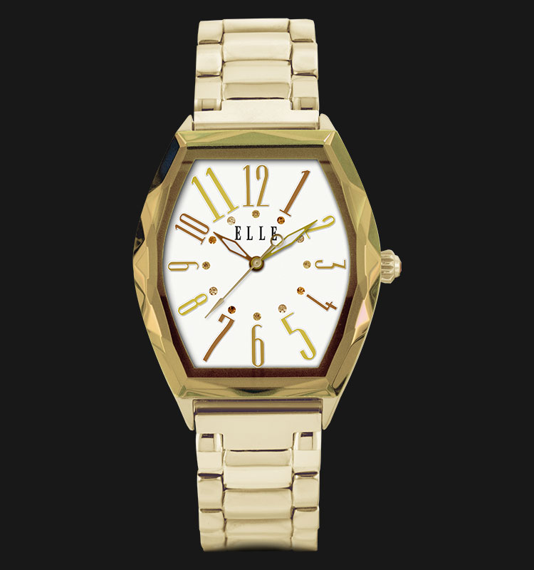 ELLE EL20321B09N Gold Plated Stainless Steel Bracelet Machtwatch