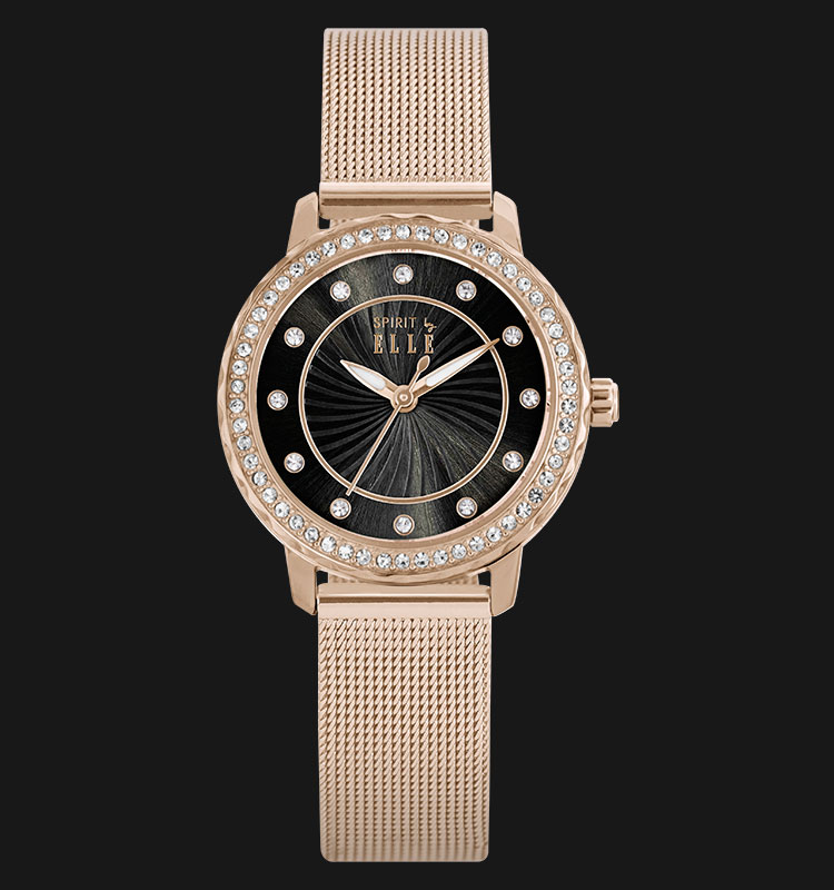 ELLE ES20035B04X Swarovski Crystals Rose Gold Plated Stainless Steel Bracelet Machtwatch