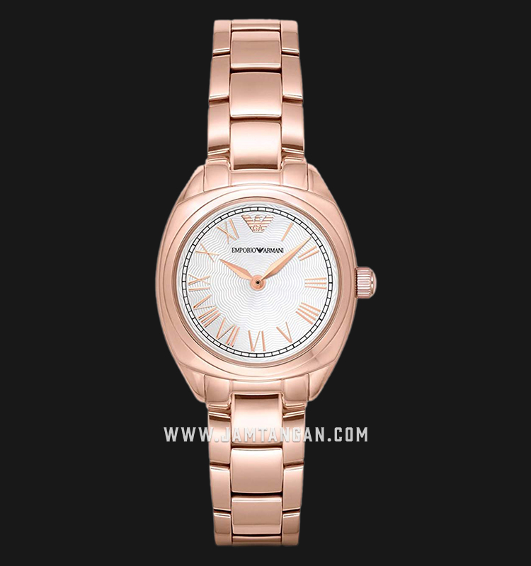 Emporio Armani Dress AR11038 Ladies Silver Dial Rose Gold Stainless Steel Strap Machtwatch