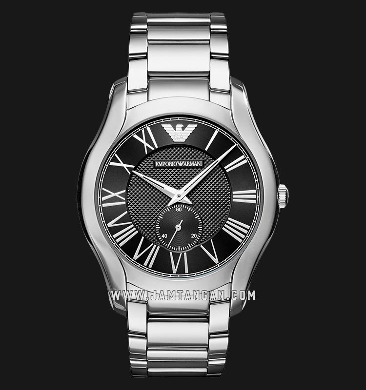 Emporio Armani Valente AR11086 Black Dial Stainless Steel Strap Machtwatch