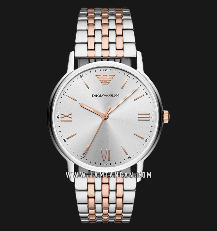 Emporio Armani Kappa AR11093 Silver Dial Dual Tone Stainless Steel Strap Machtwatch