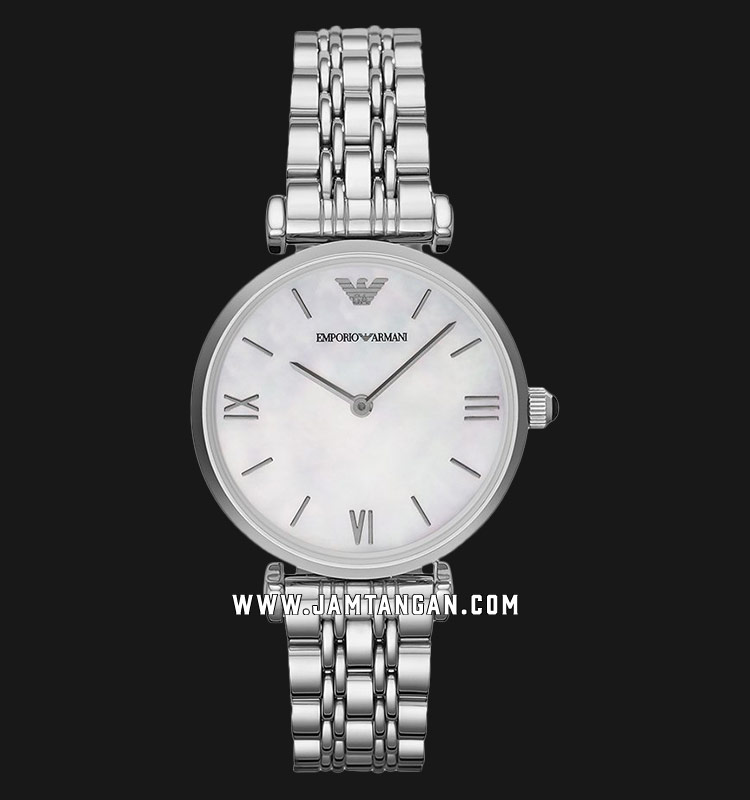 Emporio Armani Classic AR1682 Mother of Pearl Dial Stainless Steel Strap Machtwatch