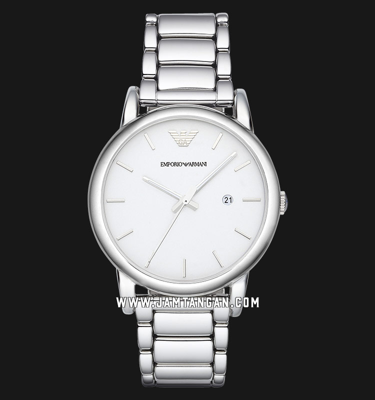Emporio Armani AR1854 Ladies White Dial Stainless Steel Strap Machtwatch