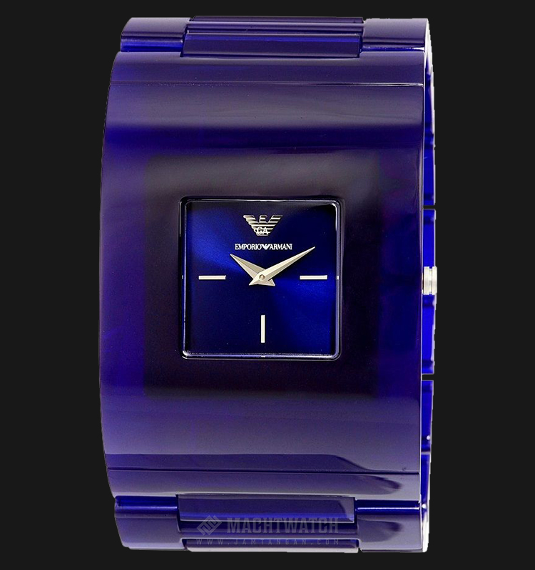 Emporio Armani AR7398 Fashion Blue Sunray Dial Bold Blue Stainless Steel Machtwatch