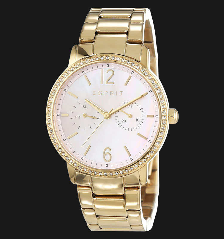 ESPRIT ES108092002 Kate Mother of Pearl Dial Gold Stainless Steel Bracelet Machtwatch