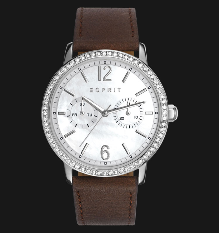 ESPRIT ES108092005 Kate Mother of Pearl Dial Brown Genuine Leather Band Machtwatch