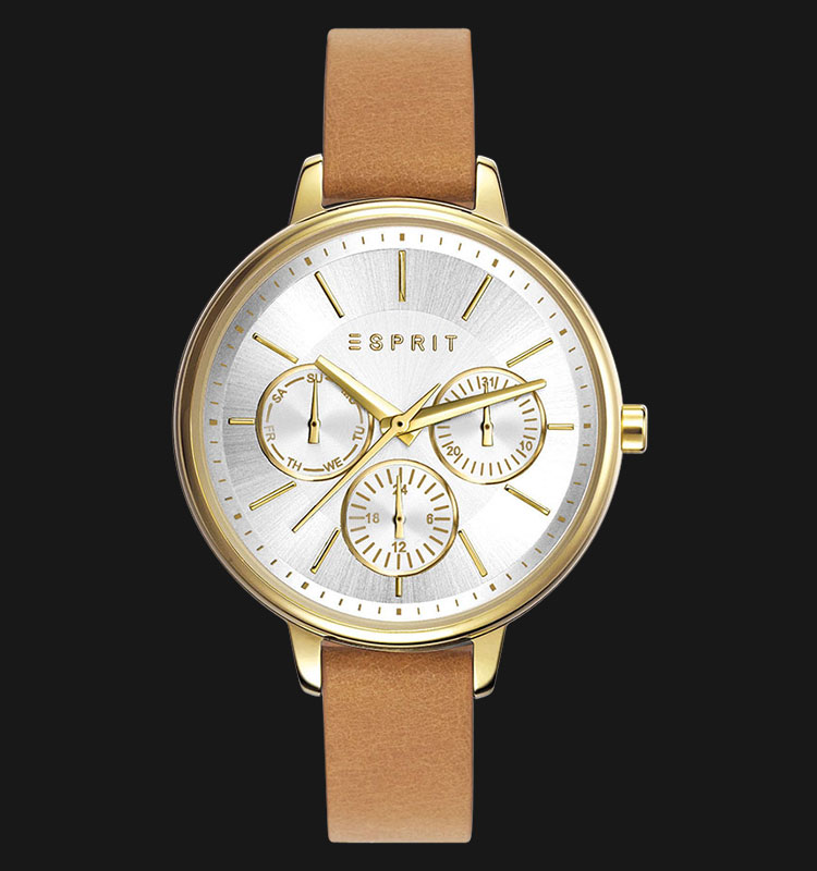 ESPRIT ES108152004 Melanie Silver Dial Beige Genuine Leather Band Machtwatch
