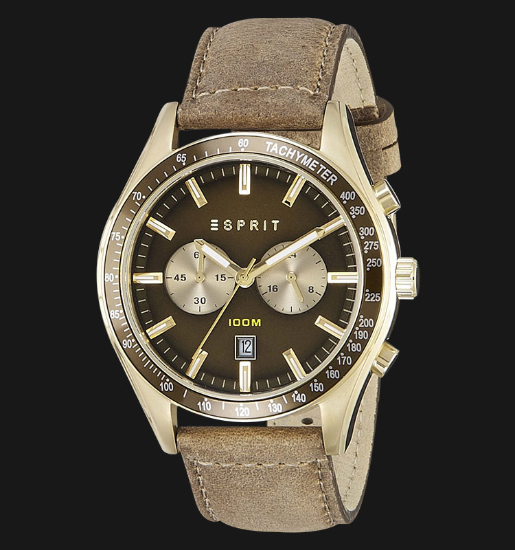 ESPRIT ES108241003 Ryan Military Green Dial Genuine Leather Band Machtwatch
