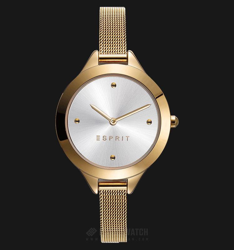ESPRIT ES109392002 Ladies Silver Dial Gold-tone Stainless Steel Watch Machtwatch