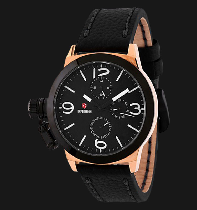 Expedition E6339-BFLBRBA Woman Black Dial Black Genuine Leather Strap Machtwatch