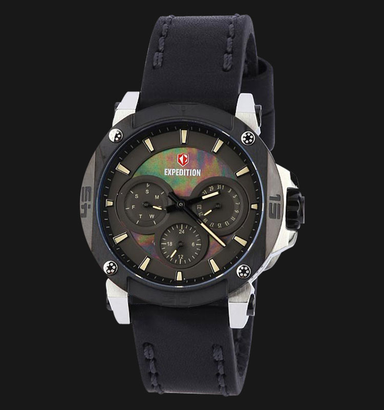 Expedition E6606-BFLIPBAIV Man Black Dial Black Leather Strap Machtwatch