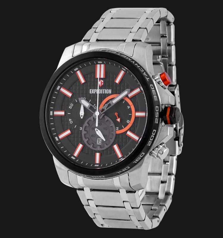 Expedition E6654-MCBTBBAOR Man Black Dial Stainless Steel Machtwatch