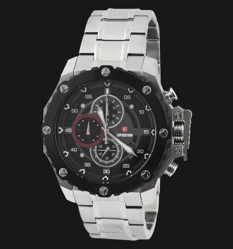 Expedition E6668-MCBTBBARE Man Black Dial Stainless Steel Machtwatch