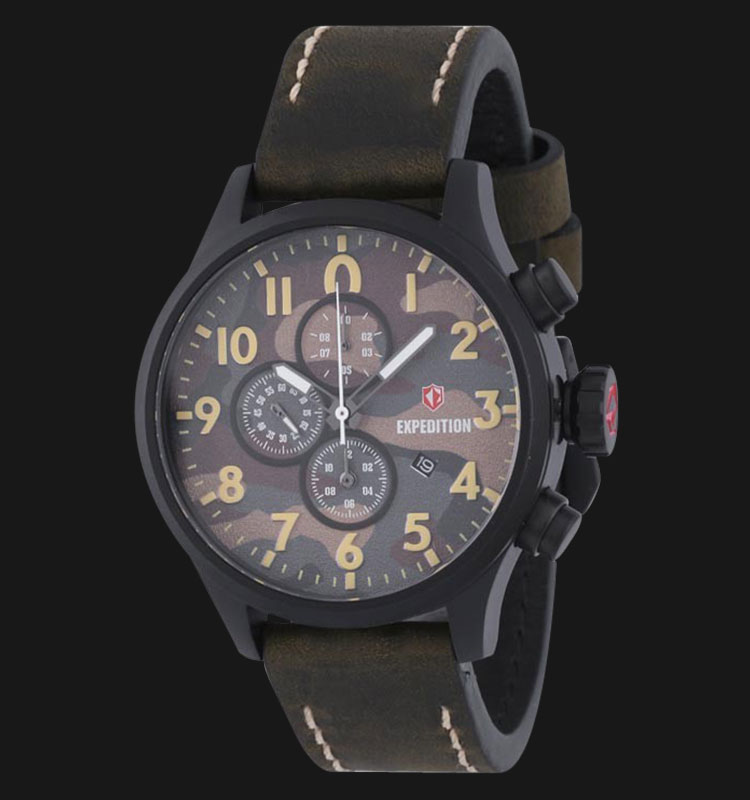Expedition E6678-MCLIPBAIV Man Black Dial Leather Strap Machtwatch