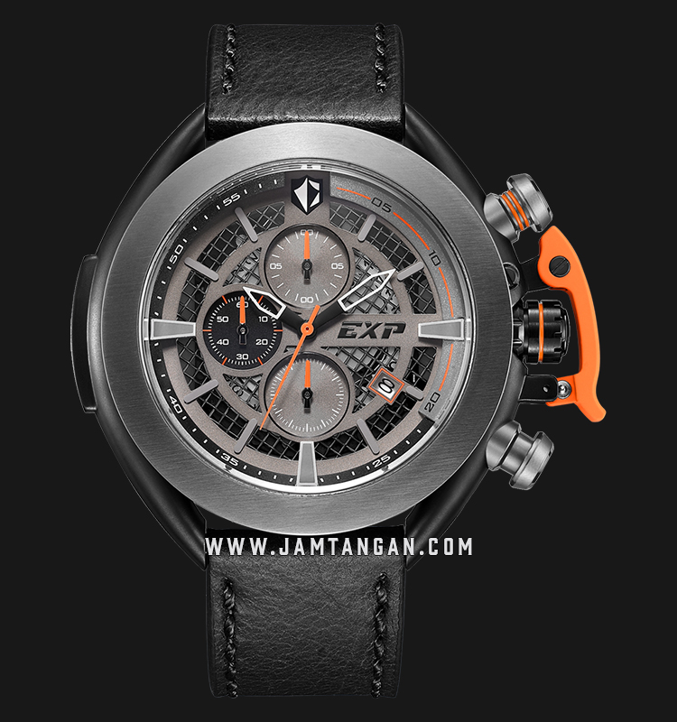 Expedition E 3001 MC LEPBAOR Chronograph Men Skeleton Dial Black Leather Strap Machtwatch