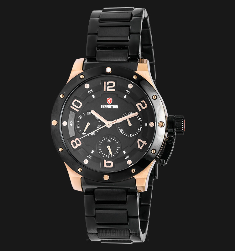 Expedition E 6381 BF BBRBASL Ladies Black Dial Black Stainless Steel Machtwatch