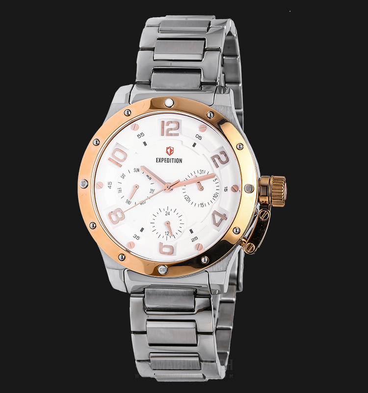 Expedition E 6381 BF BTRSL Ladies White Dial Silver Stainless Steel Machtwatch