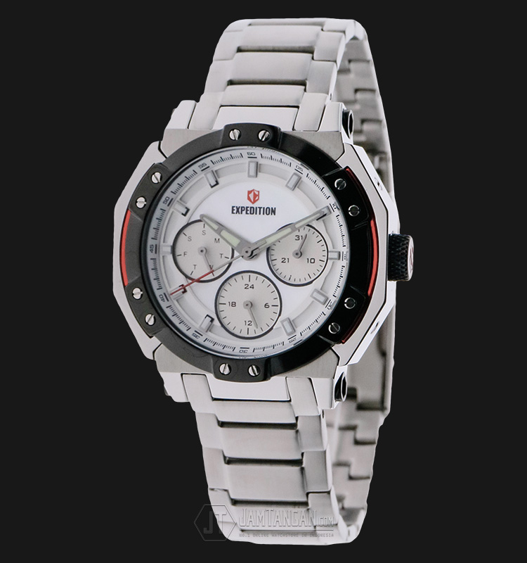 Expedition E 6385 BF BTBSL Ladies White Dial Stainless Steel Machtwatch