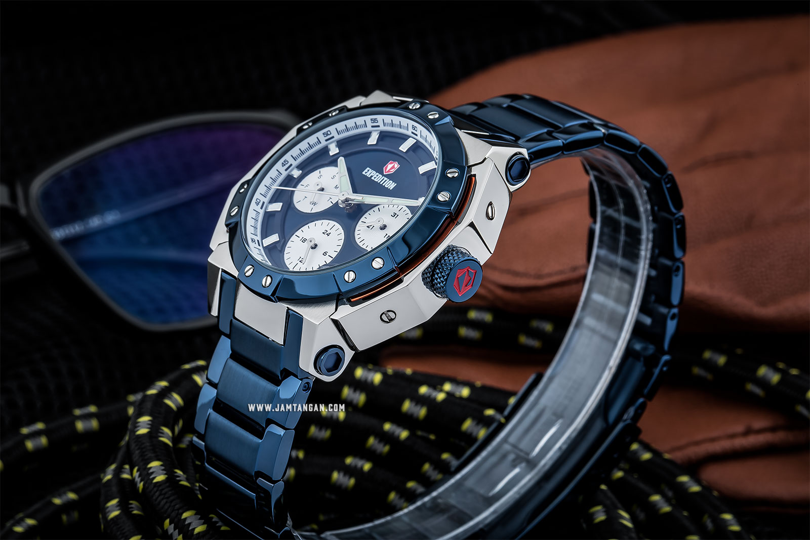 Expedition E 6385 BF BTUBU Ladies Blue Dial Blue Stainless Steel Machtwatch