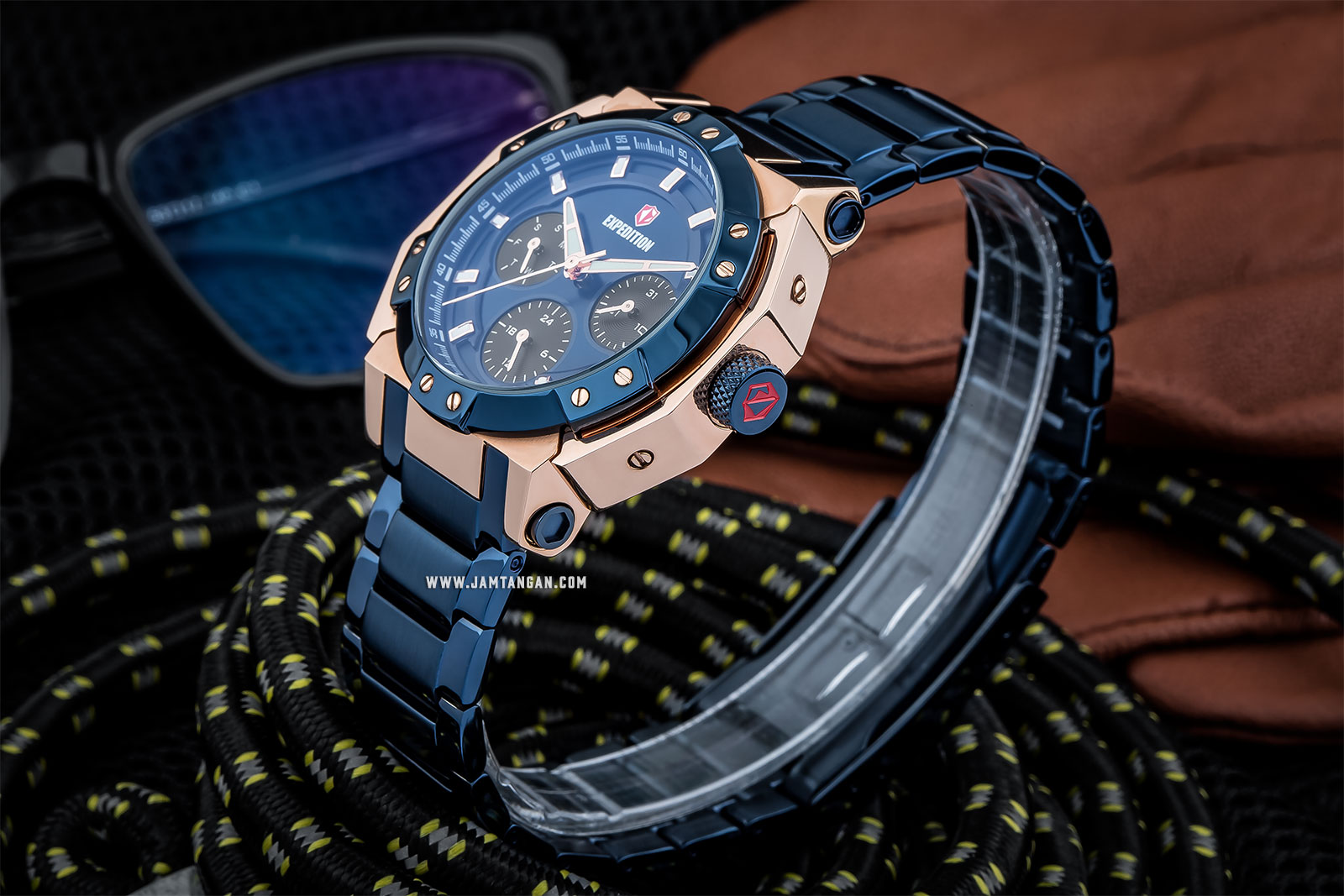 Expedition E 6385 BF BURBU Ladies Blue Dial Blue Stainless Steel Machtwatch