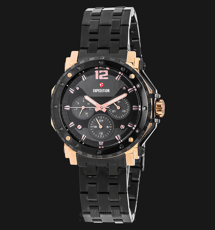 Expedition E 6402 BF BBRBA Ladies Black Dial Black Stainless Steel Machtwatch