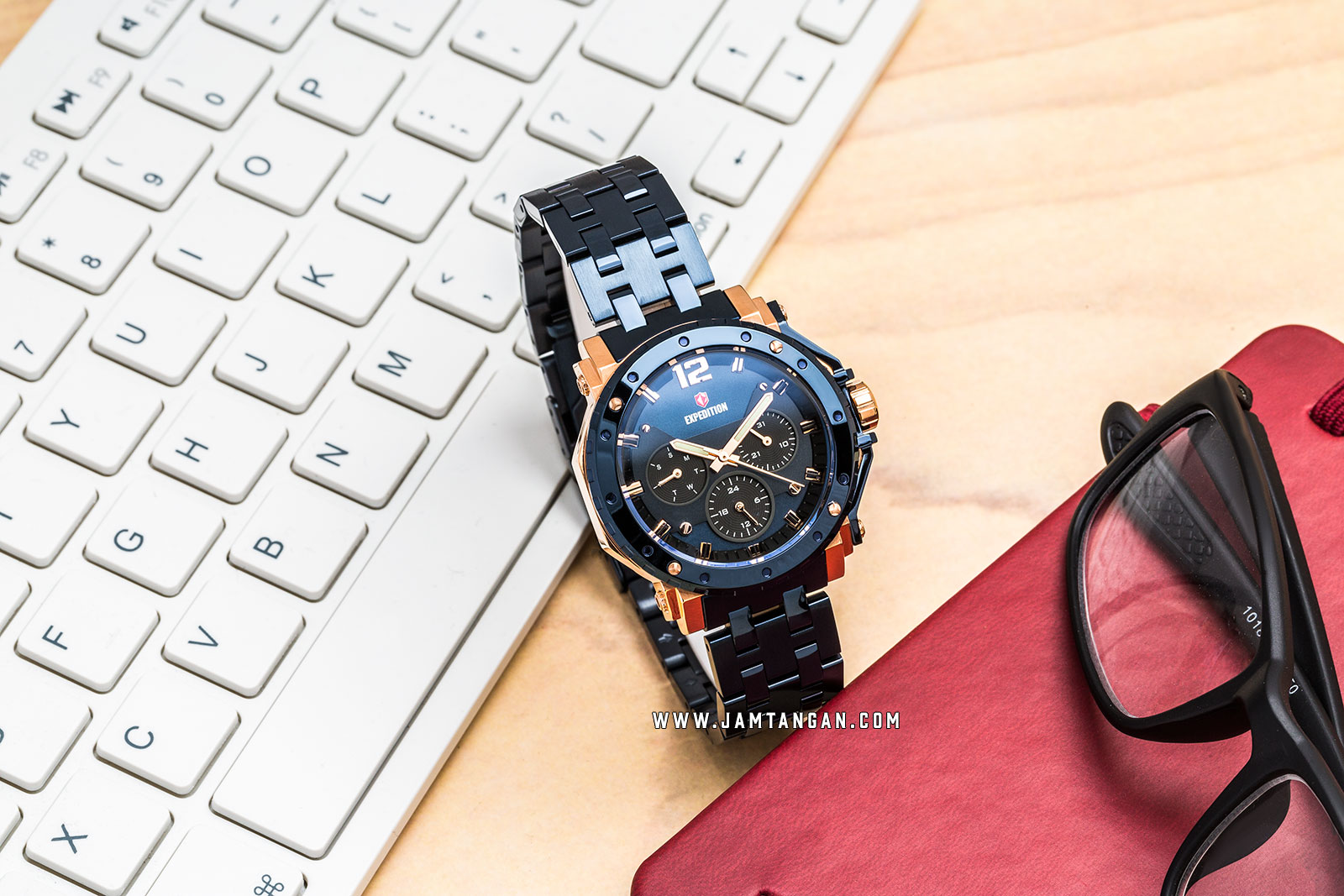 Expedition E 6402 BF BURBU Ladies Blue Dial Blue Stainless Steel Strap Machtwatch