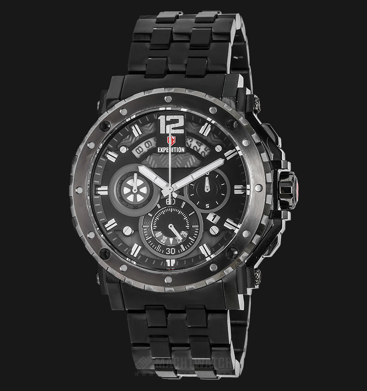 Expedition EXF-6402-MCBEPBA Man Black Dial Black Stainless Steel Machtwatch