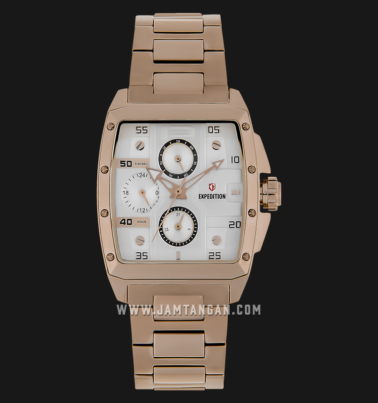 Expedition E 6636 BF BRGSL Ladies Silver Dial Rose Gold Stainless Steel Machtwatch