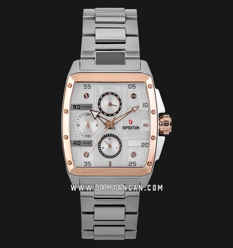Expedition E 6636 BF BTRSL Ladies Silver Dial Silver Stainless Steel Machtwatch