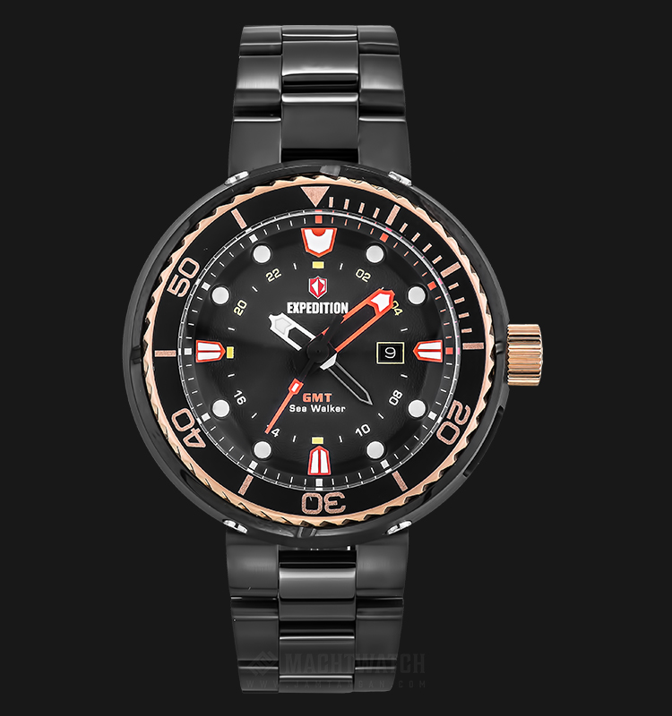 Expedition E 6727 MD BBRBARE Man Black Dial Black Stainless Steel Machtwatch
